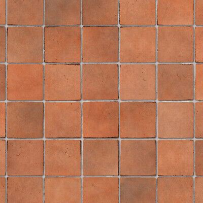 1/12 Dolls House Terracotta Small Floor Tiles Embossed/ Non-Embossed A3 Card