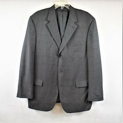 GianFranco Ruffini Mens Gray Cashmere Three Button Blazer Jacket