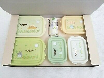 Ghibli My Neighbor Totoro Lunch Box Container and Towel 6 Piece Gift Set
