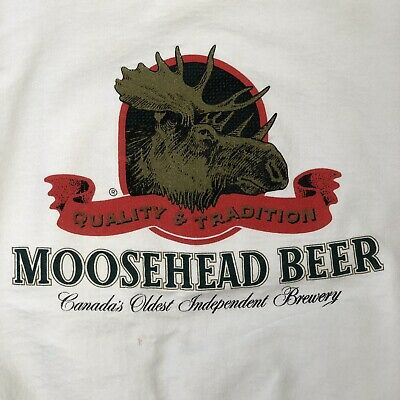 Vtg 90's MOOSEHEAD BEER Bar Pub Lagers Heavy MOOSE Cotton CANADA Sweatshirt XL