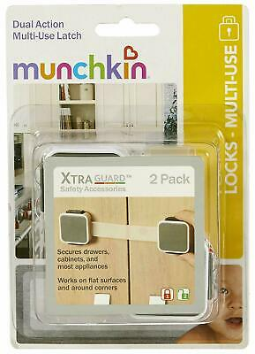 2 Pack XTRA Guard Muchkin Multi-use Dual Action Latches Microwaves Drawers ETC..