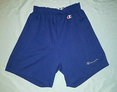 NICE Vintage Champion Mens Blue Athletic Shorts Gym Large L Spell Out Coach 90s