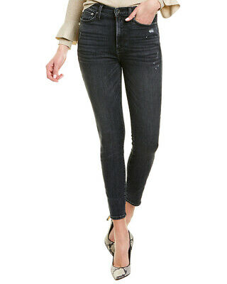 Alice + Olivia Good High Rise Black Magic Ankle Skinny Jean Women's