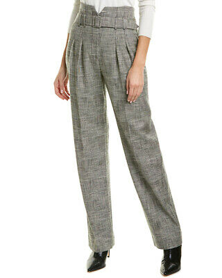 Rebecca Taylor Belted Plaid Pant Women's  2
