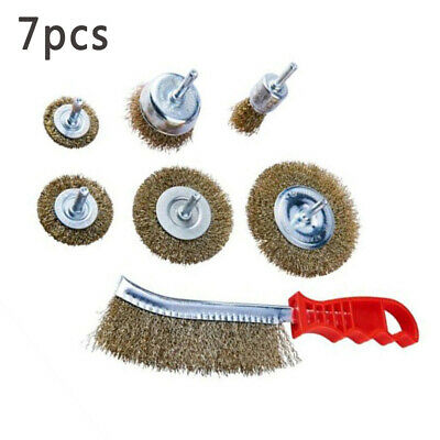 New 10pc Mini Wire Brush Brushes Brass Cup Wheel for Grinder or Drill 3x5mm