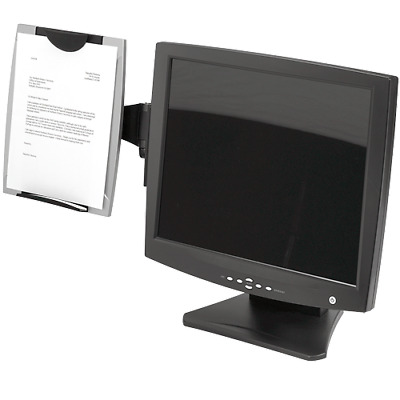 Fellowes - Monitor Mount Copyholder/Paperholder A4 Legal & Letter - CRC80333