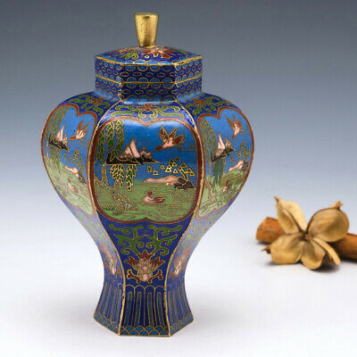 Early 20th Century Chinese Cloisonné Ginger Jar