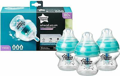 Tommee Tippee Advanced Anti-Colic Baby Bottles, 150 ml, 3 count NEW