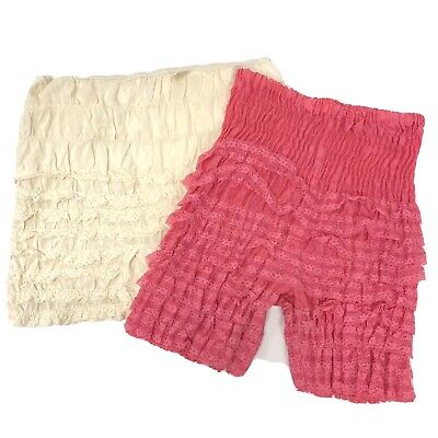 2 pc Vtg Malco Modes Mar Jac RUFFLED Lace Panty Square Dance Bloomers Fairy Kei