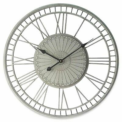 NEW 70cm Cream Tuscany Metal Wall Clock - Lexington Home,Clocks