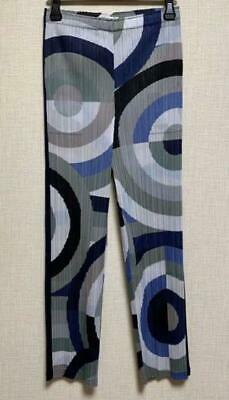 PLEATS PLEASE ISSEY MIYAKE Pleated Pants Blue Size 5 Made in Japan *Excellent*