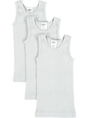 NEW BABY BERRY Baby 3 Pack Rib Singlets by Best&Less