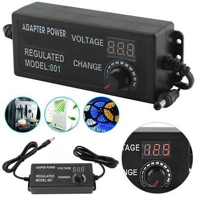 Adjustable AC/DC Power Supply Adapter Charger Variable Voltage 3V-12V Universal
