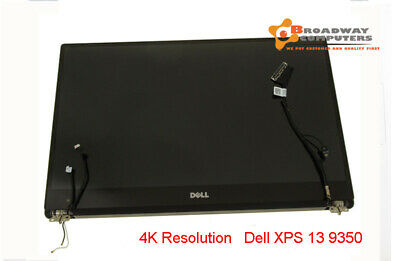 "13.3"" DELL XPS 13 9343 9350 9360 p54g 3200x1800 4K Touch Screen Top Assembly"