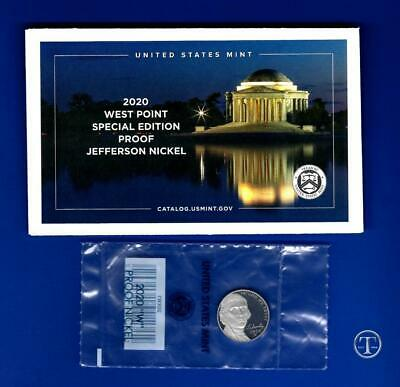 2020 W Proof Jefferson Nickel-Gem Proof-WESTPOINT MINT-IN STOCK