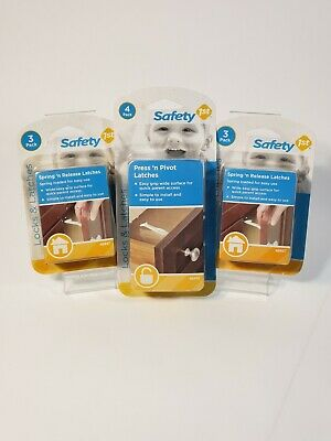Safety 1st Baby Cabinet Locks Wide Grip Latches 6 and Press and Pivot Latches 4