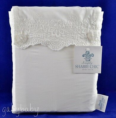 Rachel Ashwell Simply Shabby Chic Woodrose Embroidered Lace CAL KING Sheet Set