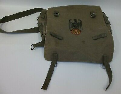 US Military German Eagle Canvas Cargo Satchel Rucksack Bag