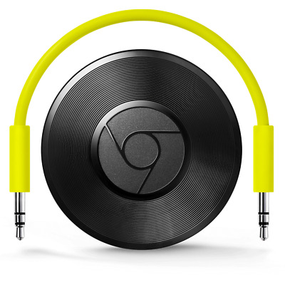 Google Chromecast Audio Musik Streaming über App Aux Wlan Schwarz Refurbished