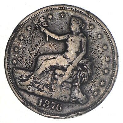 Authentic United States - TRADE Dollar - 1876 - Silver Dollar - RARE *671