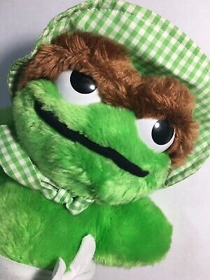 "Vintage 1983 Hasbro Softies Sesame Street BABY OSCAR THE GROUCH 11"" Plush Doll"