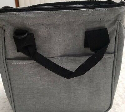Insulated Lunch Bag for Men & Women Heavy Duty Oxford Nylon Black/Gray Color