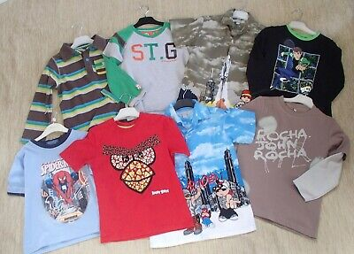 8 x Boys T Shirts Tops St George Angry Birds Ben 10 Age 5-6 Mixed Bundle Clothes