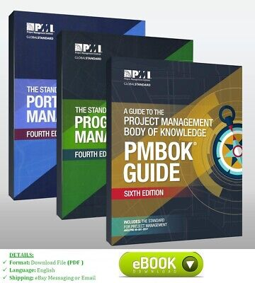 PMI Pmbok Guide 6th + The standard Program Management + Portfolio Management