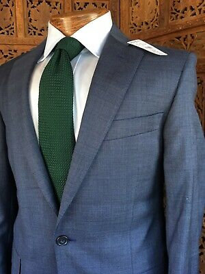 NWT $1298 Brooks Brothers 1818 Suit Regent Sz 36R Saxxon Wool Slate Blue Gray