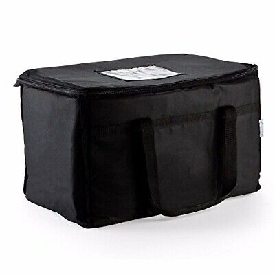 "New Excellent Insulated Food Delivery Bag, Pan Carrier Black Nylon ,23""x13""x15"""