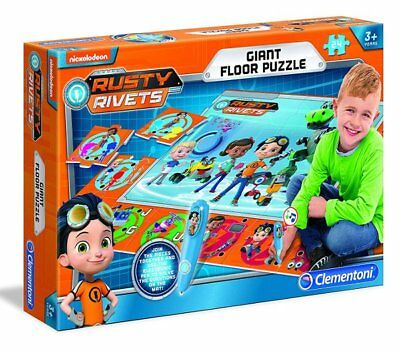 Clementoni RUSTY RIVETS Giant Interactive FLOOR PUZZLE Electronic Mat GAME