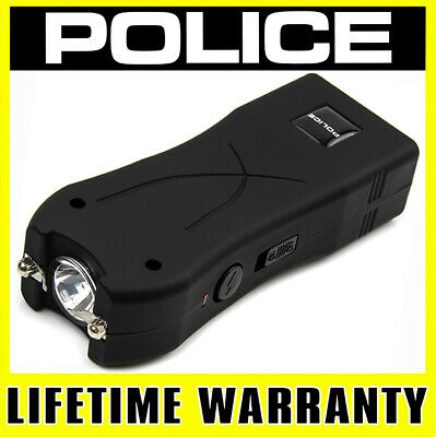 POLICE STUN GUN 398 170 BV Rechargeable With LED Flashlight + Holster