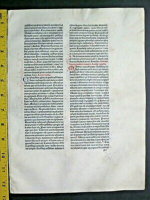 Extremely rare incunabula,Breviary leaf on vellum,handpt.initials,Jenson,1478#6