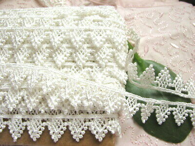 SALE 14yds Scalloped Venise Lace Trim 3/4inch~ WHITE #20~ Baby Doll~ curtain