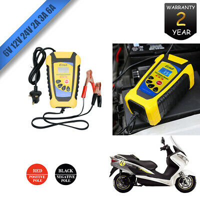 Heavy Duty 2A-6A 6V 12V 24V Battery Charger Jump Starter Booster Car Vehicle Van