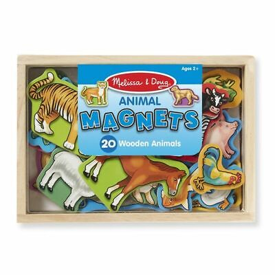 Melissa & Doug Wooden Magnetic Animals in a box ~set of 20 Item # 475
