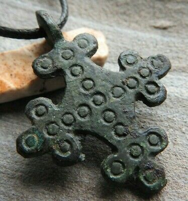 Rare Authentic Cross with solar signs of the Vikings of Kievan Rus 10-11 AD