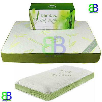 Bamboo Memory Foam Soft Cot Toddler Bed Mattress Baby Toddler Bedding 2 Sizes