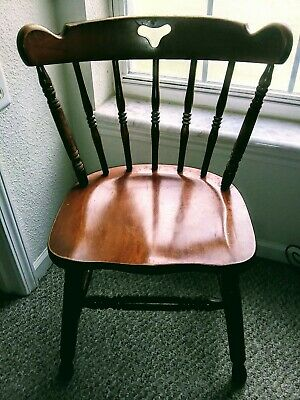 Tell City Chair Company solid hard rock maple. 8018 set of 8 a captain chair