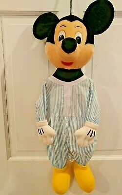 Mickey Mouse Diaper Clothes Bag Hanging Pajamas Cloth Bag Plush Head Full Body