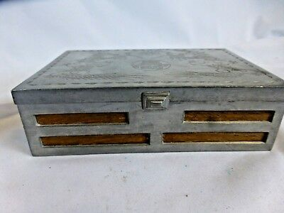 Antique chinese pewter box, ca. 1930s