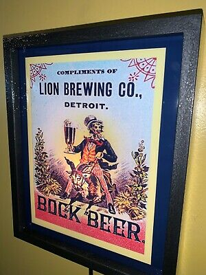 Lion Brewing Co. Detroit MI Beer Bar Tavern Man Cave Lighted Advertising Sign