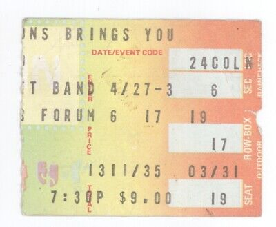 Bob Seger The Silver Bullet Band Roll Me Away FINAL TOUR DTE Energy Ticket Stub