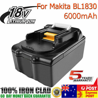 18V 6.0AH Battery for MAKITA BL1830 BL1835 BL1860 Lithium Ion Cordless tools AU