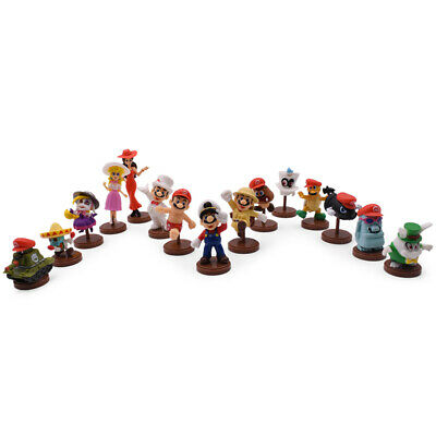 15Pcs/Set Vedio Game Princess Peach Goomba Odyssey Cappy Bullet Bill Figure Toy