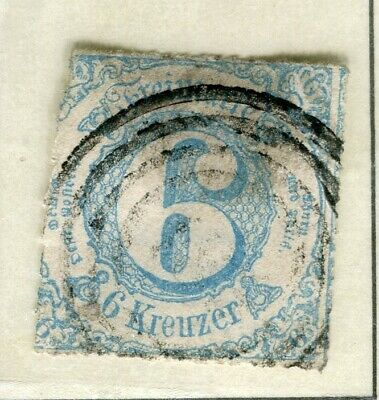 GERMANY THURN TAXIS; (South) 1860s early classic issue used 6k. value