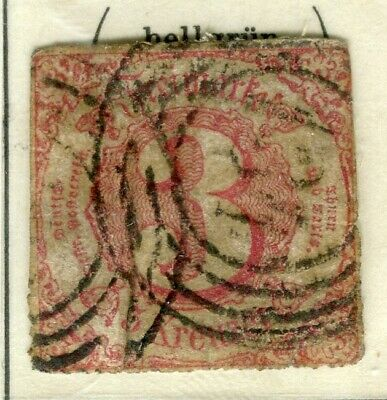 GERMANY THURN TAXIS; (South) 1860s early classic issue used 3k. value