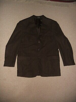 Mens Blazer-GIANFRANCO RUFFINI-ITALY-brown cashmere blend lined-42R