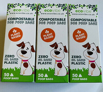 Compostable Biodegradable Dog Poop Bags 50 Bags Free P & P