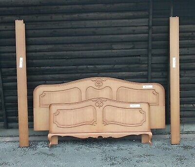 Louis XV Style Vintage French Carved Oak King Size Bed Frame (BED75).